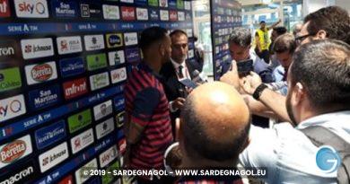 Cagliari post partita foto Alessandro Zucca