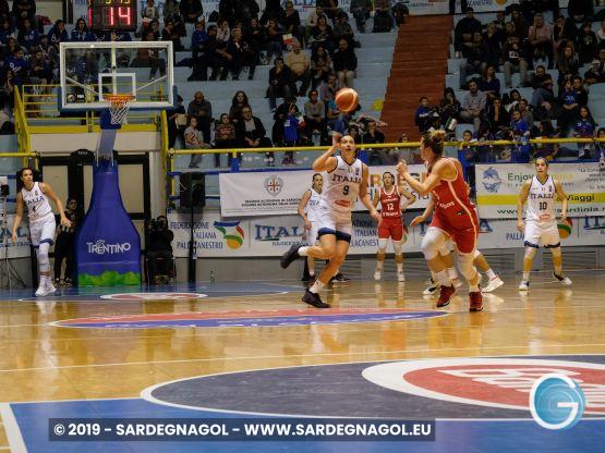 Italia-Repubblica Ceca basket femminile foto marina Federica Patteri