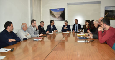 Roberto Frongia con i sindaci di Bosa, Modolo, Sindia, Birori e Silanus
