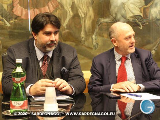 Christian Solinas, Angelo Binaghi, foto Sardegnagol, riproduzione riservata, 2020 Gabriele Frongia