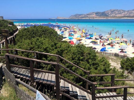 Spiaggia della Pelosa, Turismo