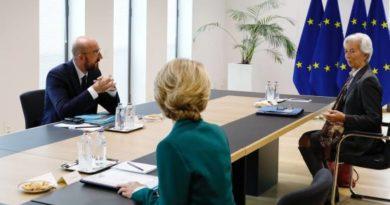 Charles Michel, Ursula von der Leyen, Christine Lagarde, foto Copyright European union