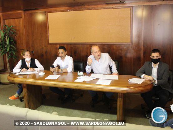 Maria Laura Orrù, Antonio Piu, Valter Piscedda, Michele Ciusa, foto Sardegnagol
