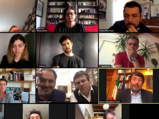 Videoconferenza Franceschini e artisti