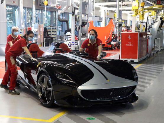 Back on track Ferrari
