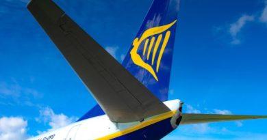 Aereo Ryanair, foto Sogaer