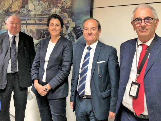 Gabor Pinna, Monica Pilloni, Maurizio de Pascale, Renato Branca, foto SOGAER