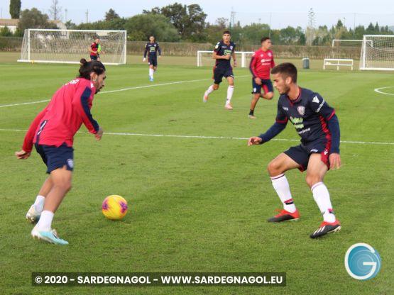 Allenamento calcio, foto Sardegnagol
