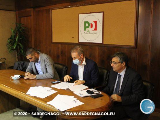 Eugenio Lai, Cesare Moriconi, Gianfranco Ganau, foto Sardegnagol riproduzione riservata