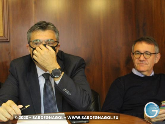 Piero Comandini, Gianfranco Ganau, foto Sardegnagol riproduzione riservata