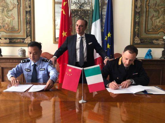 Firma Forze di Polizia sino-italiane