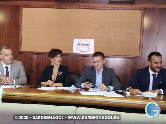 Movimento 5 Stelle in Consiglio regionale, foto Sardegnagol riproduzione riservata