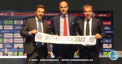 Eusebio Di Francesco, Tommaso Giulini, Pierluigi Carta, foto Sardegnagol riproduzione riservata, 2020 Gabriele Frongia