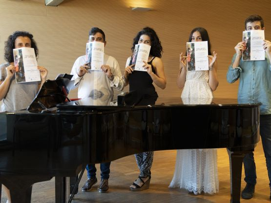 L'ensemble musicale, foto di Priamo Tolu