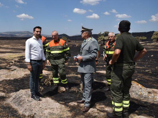 Gianni Lampis, sopralluogo incendi