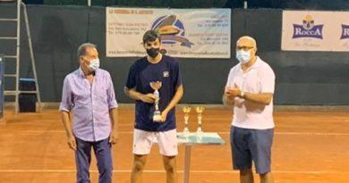 Andrea Calcagno , premiazione tennis