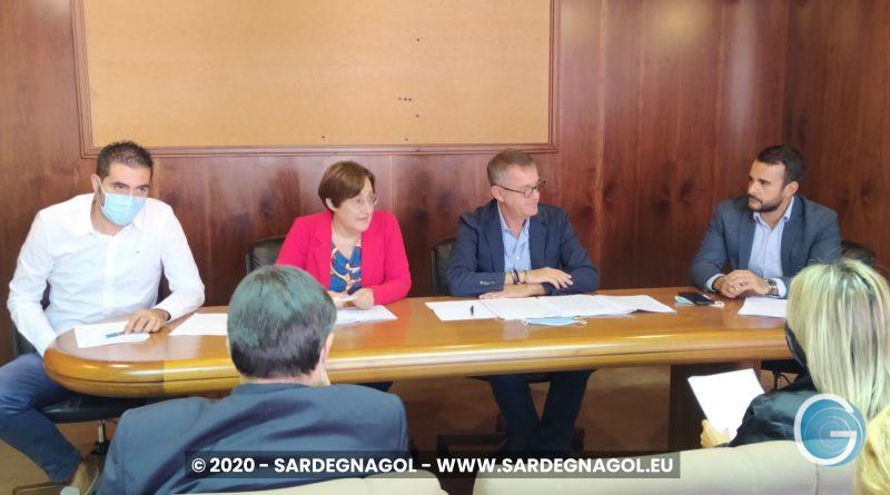 Conferenza stampa, foto Sardegnagol, riproduzione riservata, 2020 Gabriele Frongia