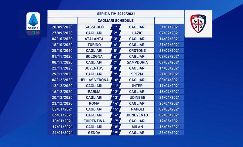 Serie A 2020/2021. Il Cagliari debutta contro il Sassuolo