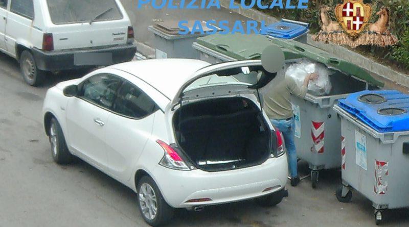 Video trappola, polizia locale Sassari