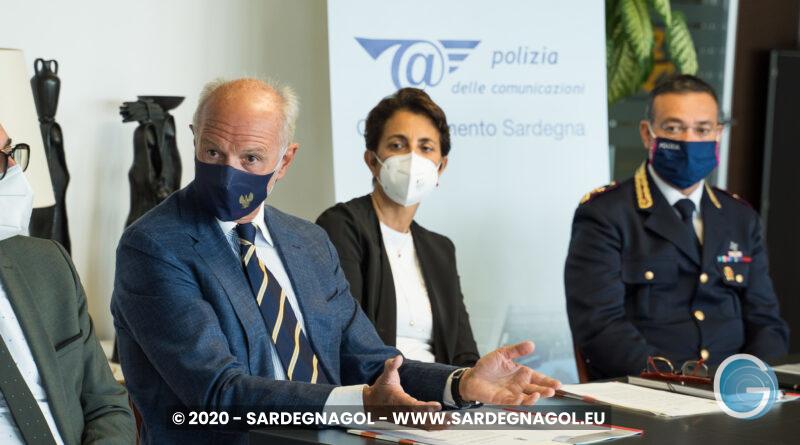 Pierluigi d'Angelo, Monica Pilloni, Francesco Greco, foto Sardegnagol, riproduzione riservata 2020