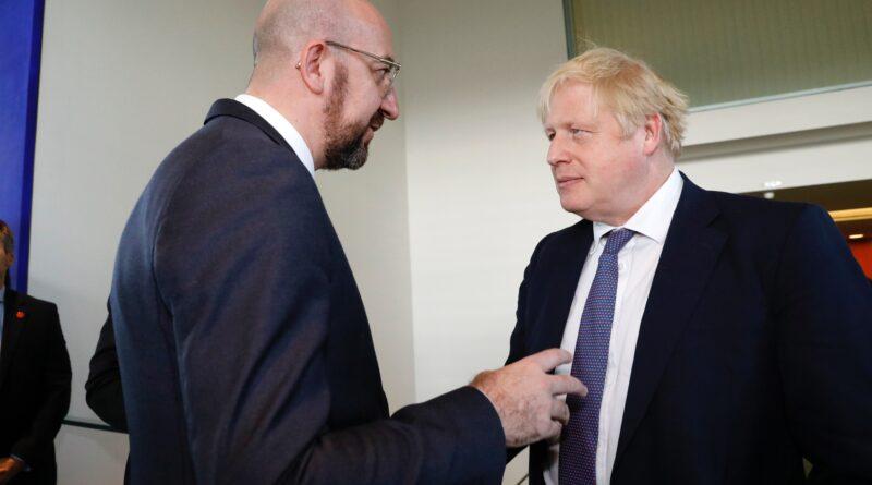 Charles Michel, Boris Johnson, foto Copyright: European Union
