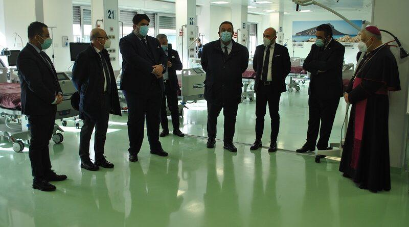 inaugurazione terapia intensiva Aou Sassari