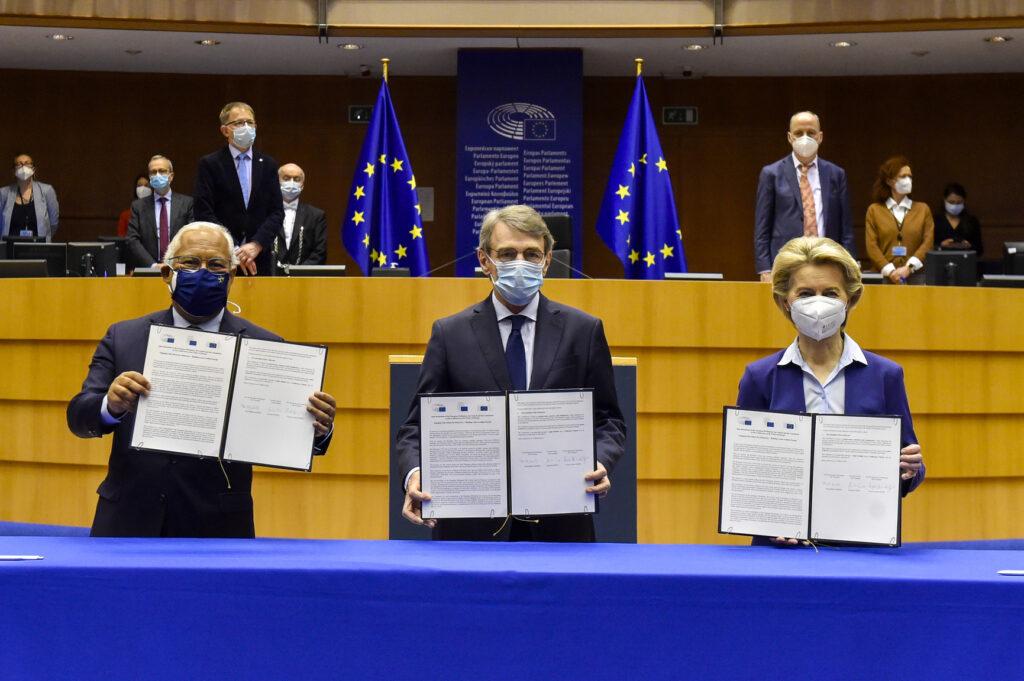Cerimonia COnferenza sul Futuro dell'Europa, foto Eric Vidal Parlamento Europeo