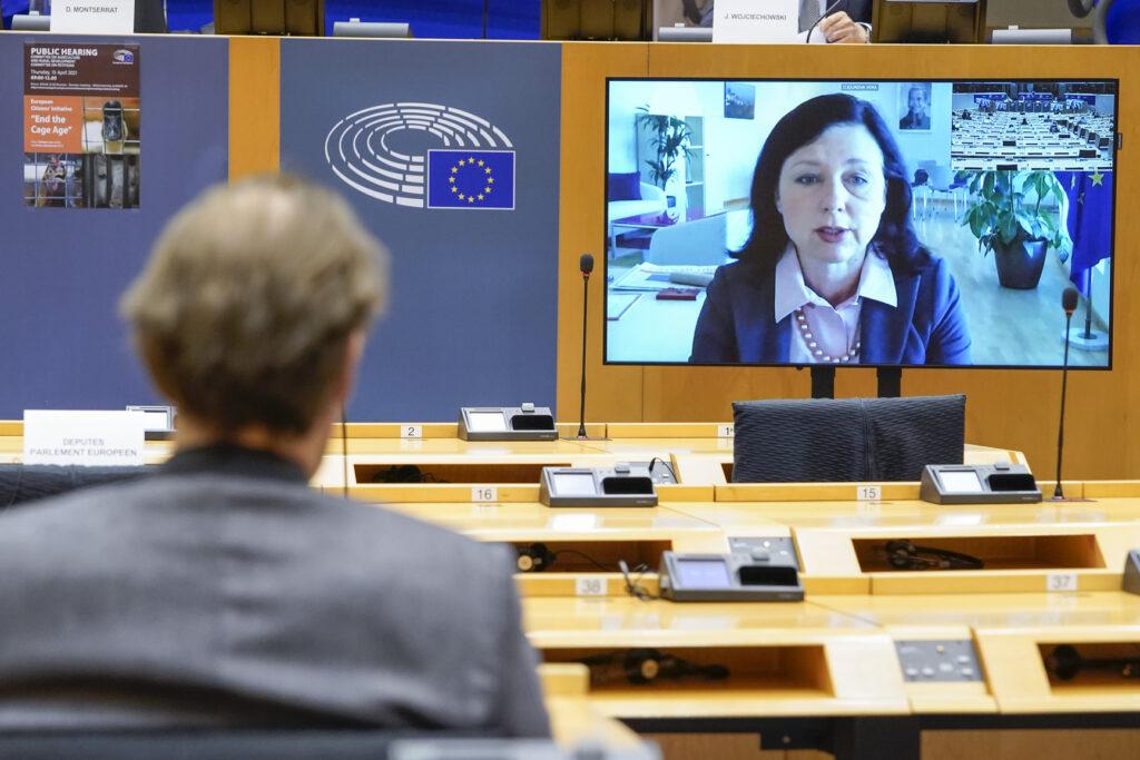 Vera Jourova, foto Copyright European Parlaiment source EP 2021, foto Philippe Buissin