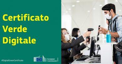 Certificato verde digitale Ue