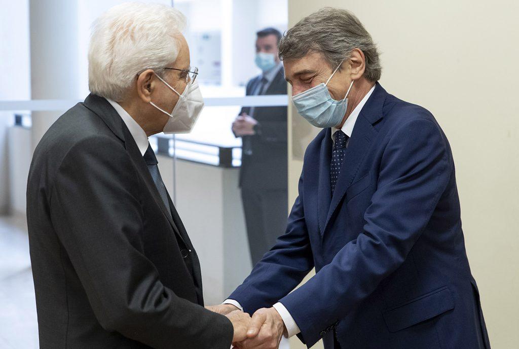 David Sassoli, Sergio Mattarella (Foto di Paolo Giandotti - Ufficio per la Stampa e la Comunicazione della Presidenza della Repubblica)
