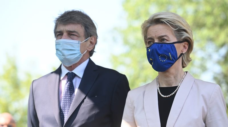 Ursula von der Leyen, David Sassoli, foto Piero Cruciatti European Union, 2021 Copyright. Source: EC - Audiovisual Service