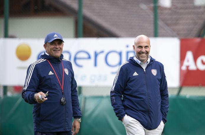 Leonardo Semplici, Tommaso Giulini, foto Cagliari Calcio / Valerio Spano