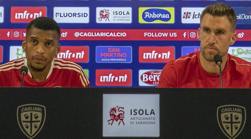 Dalbert, Strootman, foto Cagliari Calcio/Valerio Spano