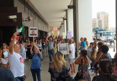 Manifestazione no green pass, foto Dire