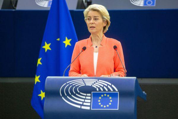 Ursula von der Leyen, Fred MARVAUXCopyright© European Union 2021 - Source : EP