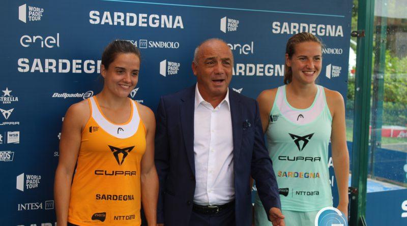 Gianni Chessa, Paula Josemaria Martin, Ariana Sanchèz, foto Sardegnagol riproduzione riservata